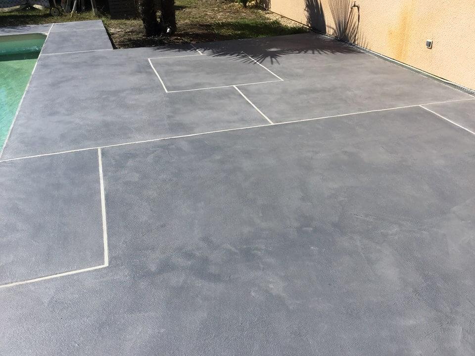 Micro beton extérieur